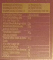 Mazapán - Informations nutritionnelles - es