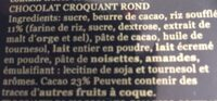 Turron Torta Chocolate Crujiente - Ingrédients