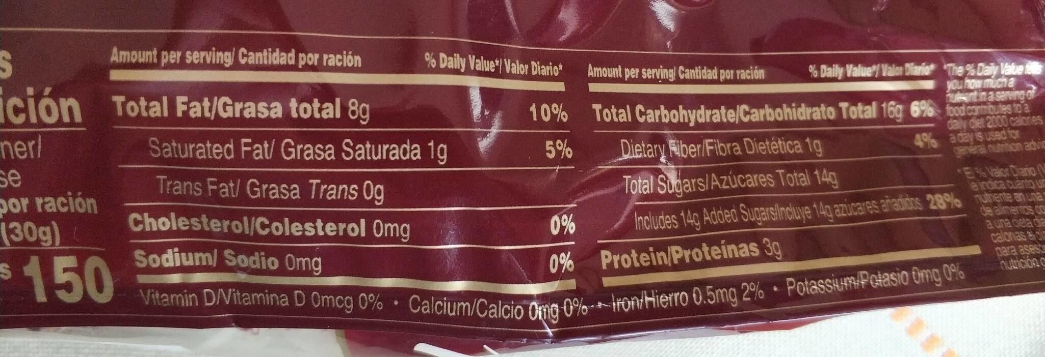 Mazapán - Nutrition facts