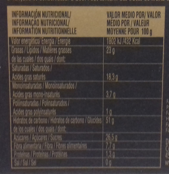 Turrón Coco - Información nutricional - es