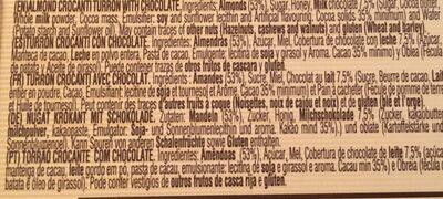 Turron Crocanti con Chocolate - Ingrediënten