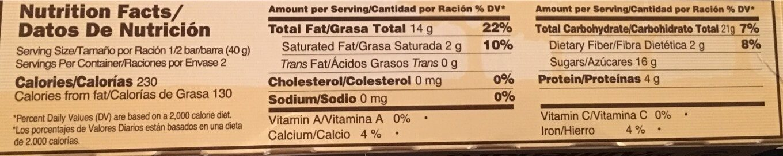 Turron Crocanti con Chocolate - Voedingswaarden