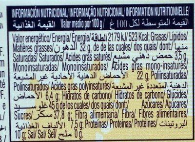 El Almendro Turron Caramelo - Nutrition facts