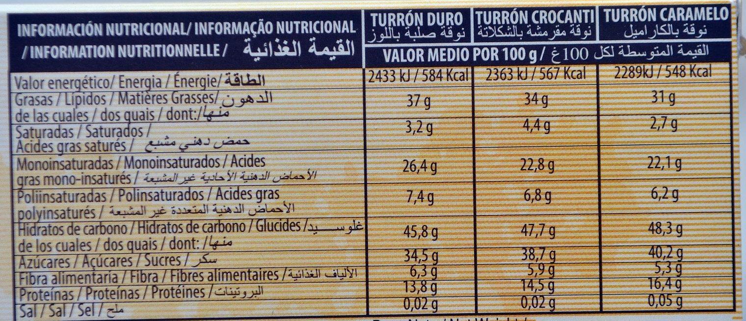 El Almendro Turron Selection - Voedingswaarden - es