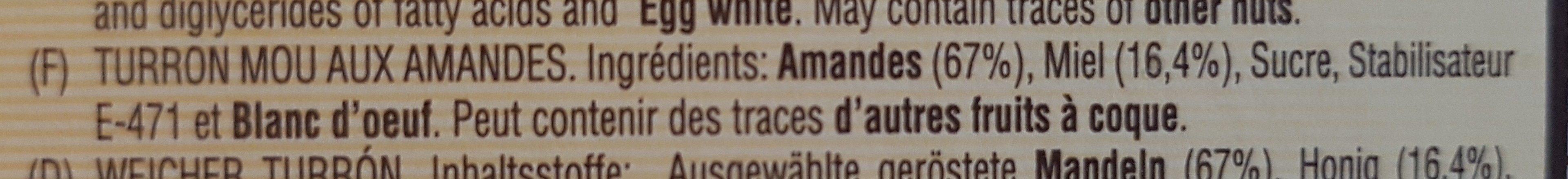 Turrón blando - Ingredients - fr