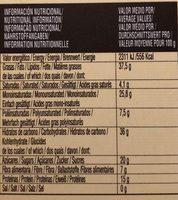 Turrón blando - Informació nutricional - fr