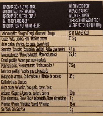 Turrón Blando, Calidad suprema (250 G) - Información nutricional