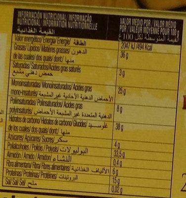 Turron Duro Sin Azucares anadidos - Nutrition facts