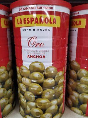 Aceitunas verdes rellenas de anchoa lata 600 g - Product - fr