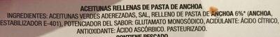 Aceitunas rellenas de anchoa latas - Ingrediënten - es