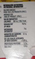 Aceitunas rellenas de anchoa latas - Voedingswaarden - es