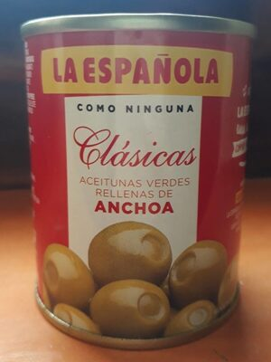 Aceitunas rellenas de anchoa pack 6 lata 50 g - Product - es