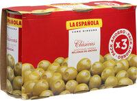 Aceitunas rellenas de anchoa pack 3 latas 150 g - Product - fr