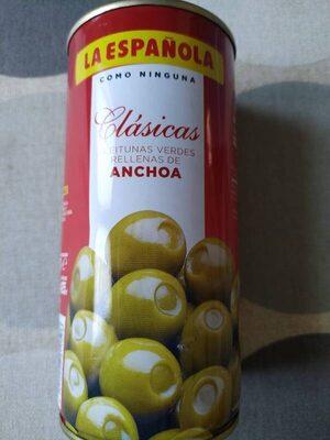 Aceituna verde rellena de anchoa