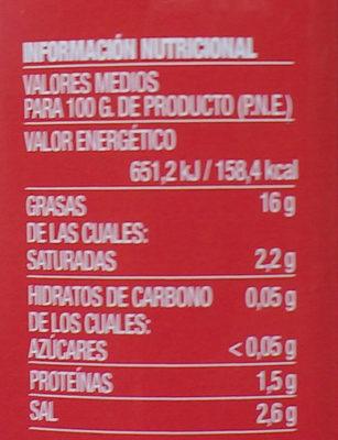 aceitunas la Española - Nutrition facts