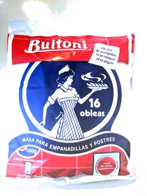 Obleas Empanadillas La Cocinera 16UDS 160GRS - Producto