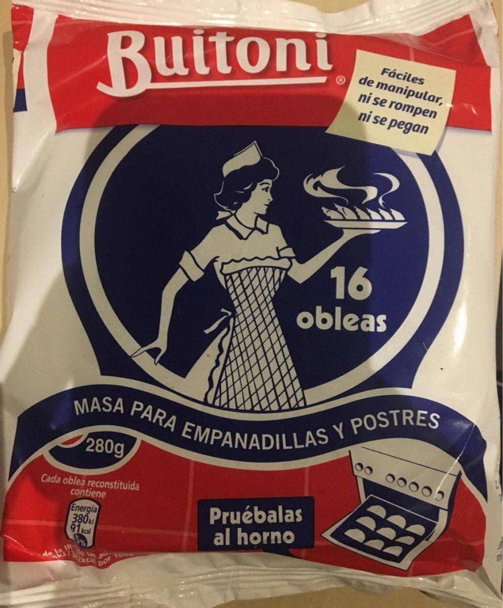 Obleas buitoni - Produit