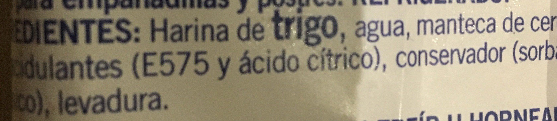Obleas buitoni - Ingrédients