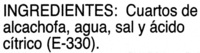 Alcachofa cuarteada - Ingredientes