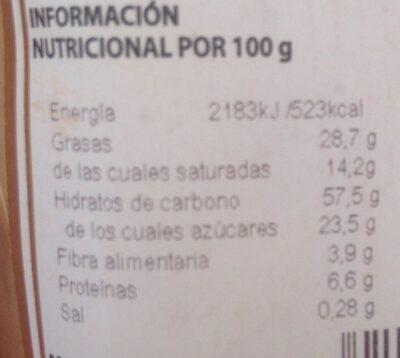 Capricho de avellate y chocolate - Informations nutritionnelles - fr