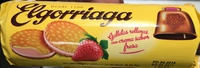 Galletas rellenas con crema sabor fresa - Producte