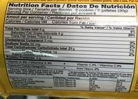 Galletas rellenas con crema sabor fresa - Informació nutricional