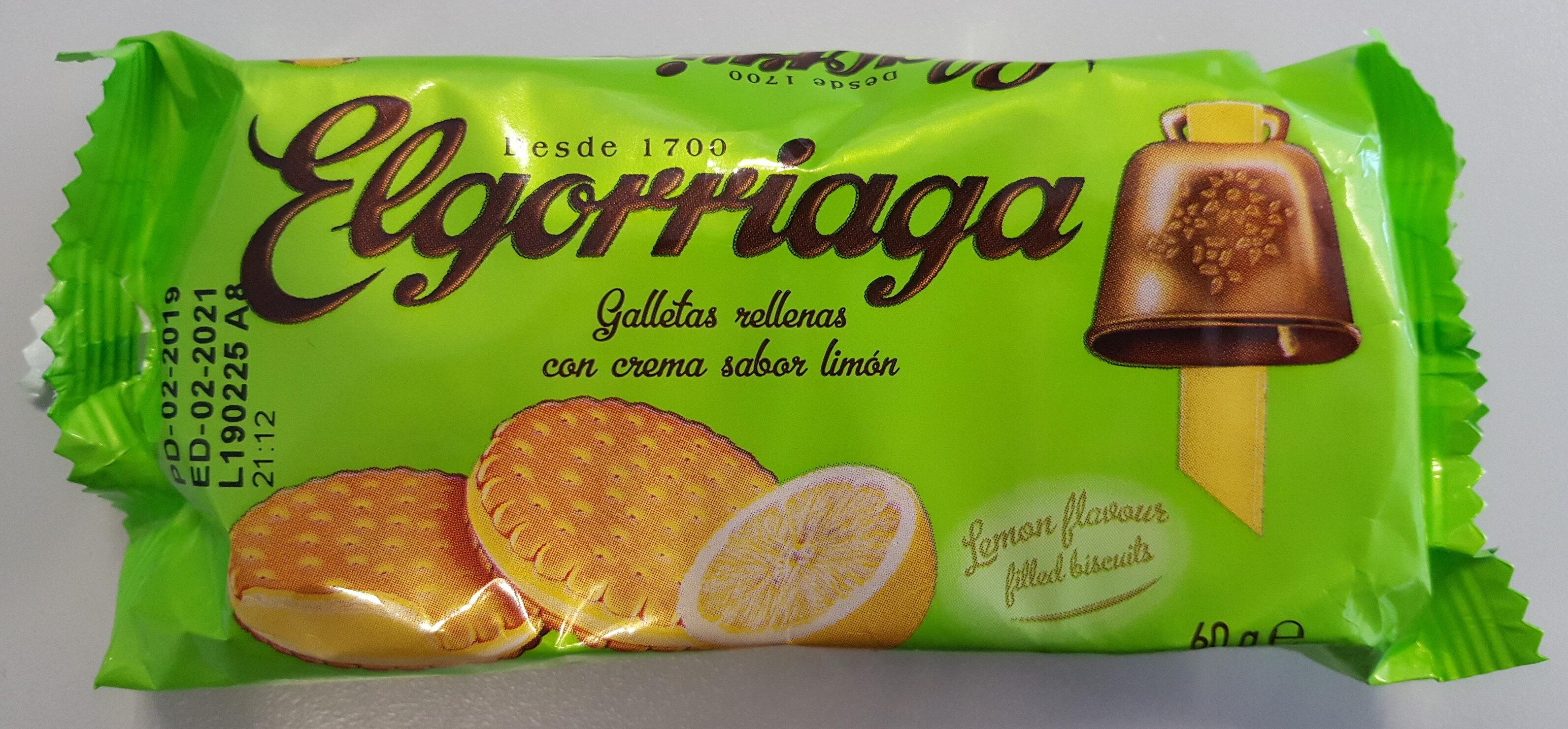 Galletas rellenas de crema sabor limon - Produit - es