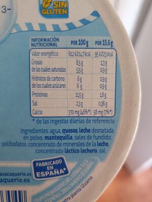 La vaca que rie Light - Informations nutritionnelles - es