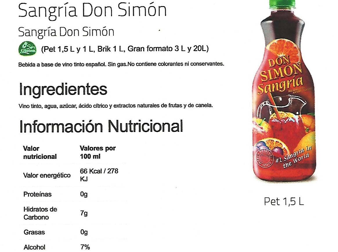 Sangria Rouge - Nutrition facts