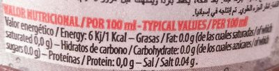Tinto de Verano Limon Sin Alcohol - Informació nutricional