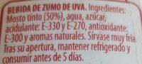 Sangria sanfria sin alcohol - Ingredientes