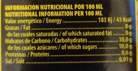Zumo de naranja enriquecido con vitamina C - Informations nutritionnelles - es