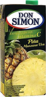 Zumo concentrado de piña y uva brik - Produit - fr