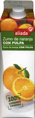 """Zumo de naranja exprimida refrigerado con pulpa """"Aliada"""" - Produit"""