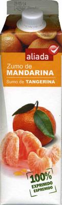 """Zumo de mandarina exprimido refrigerado """"Aliada"""" - Producto"""