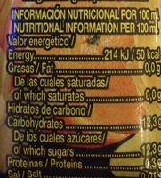 La merienda - Nutrition facts