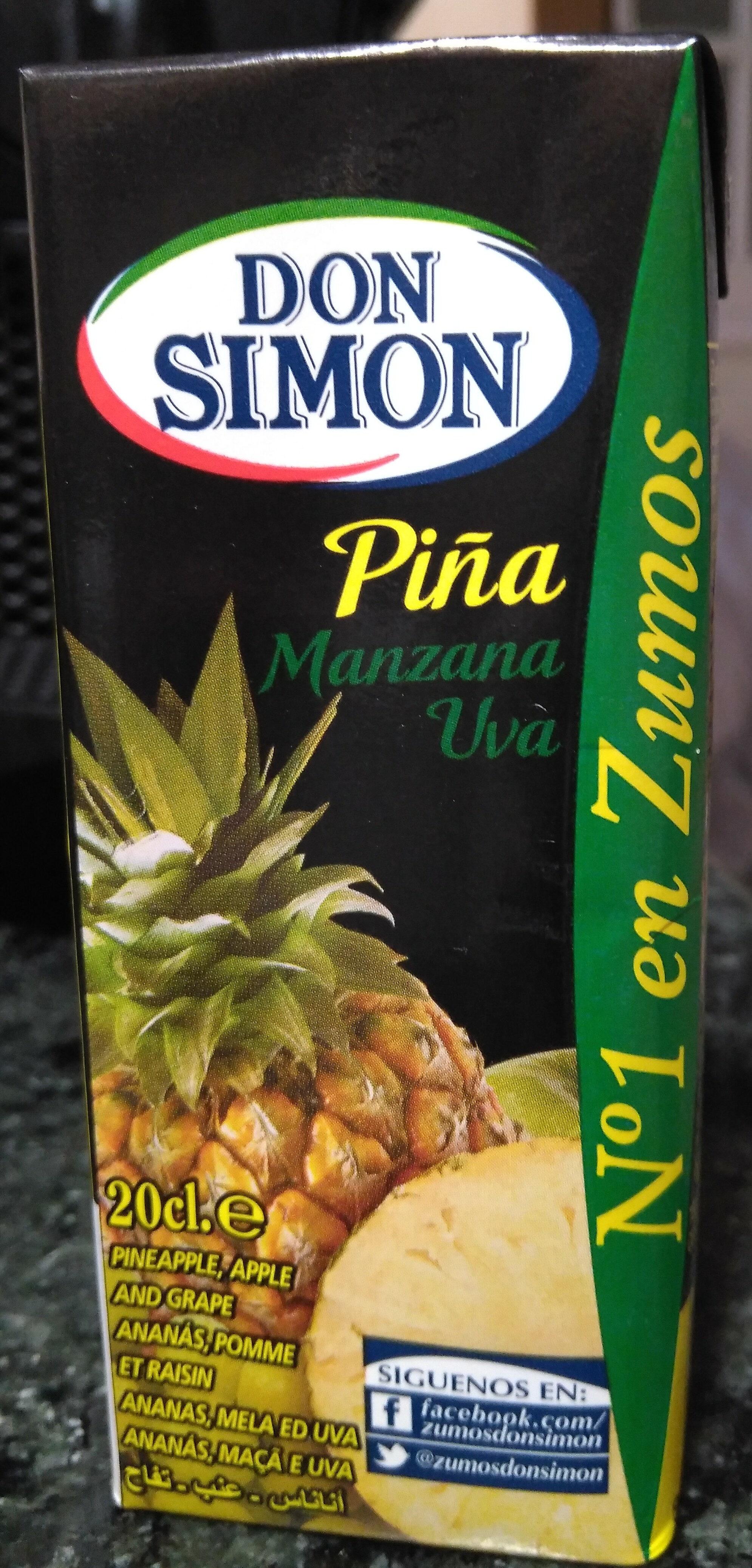 Zumo de piña manzana y uva briks - Produit - pt