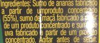 Zumo de piña manzana y uva briks - Ingrédients - pt