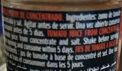 Jus de tomate - Ingredientes
