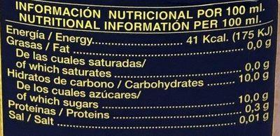 Néctar de Pomelo - Informations nutritionnelles - fr