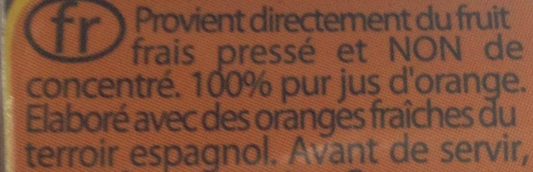 Naranja 100% exprimido - Ingrédients - fr