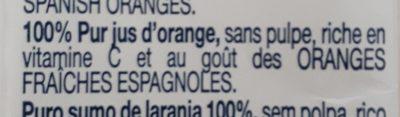Solo Zumo 100% Exprimido sabor Naranja - Ingredients