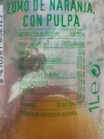Don simon naranja premium valencia 100% exprimida con pulpa - Nutrition facts - es
