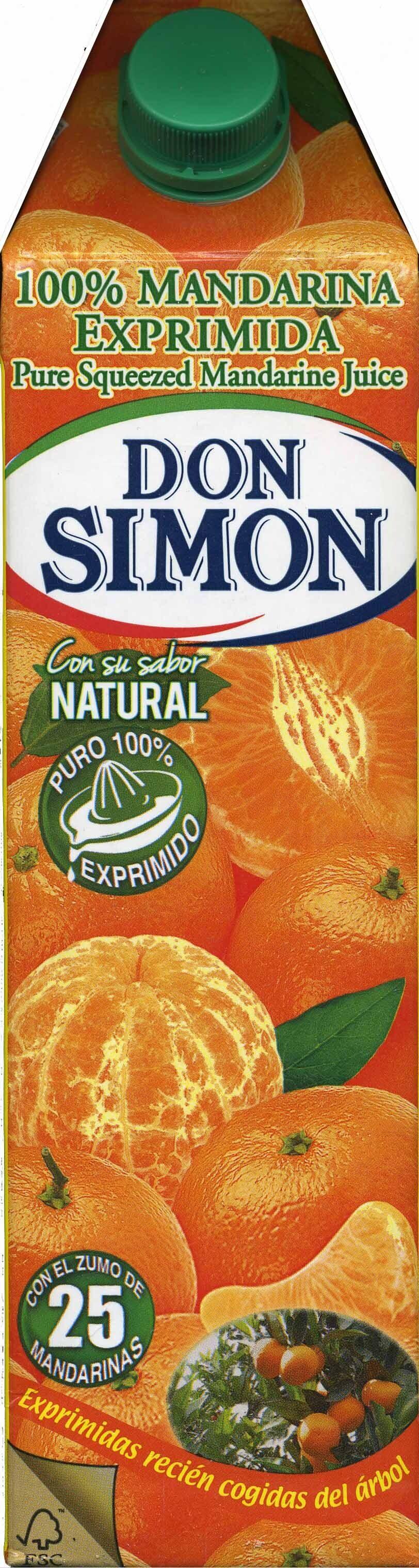 Zumo de mandarina exprimida - Producto