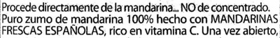 Zumo mandarina 100% exprimido - Ingredientes - es