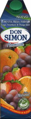 Zumo de uva, fresa y naranja exprimido - Producte - es