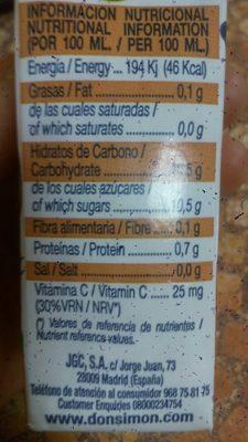 Mandarina - Voedingswaarden - es
