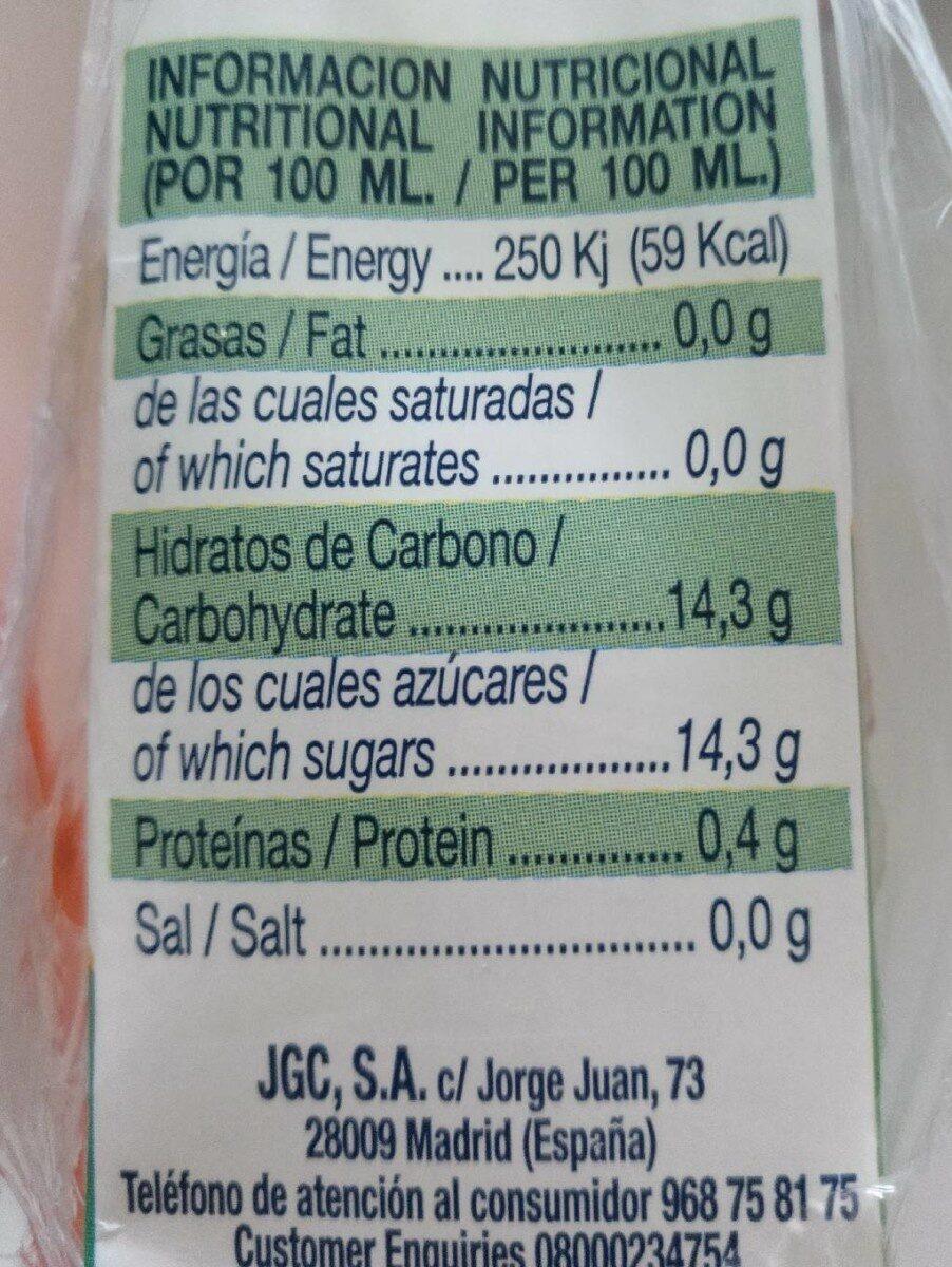 Zumo de piña y uva briks - Informations nutritionnelles - es