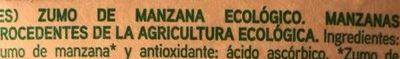 Zumo de manzana ecológico - Ingredients
