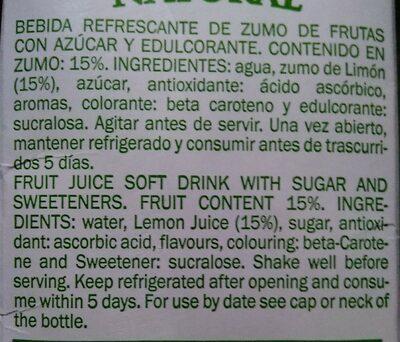 Citronade light - Ingredientes